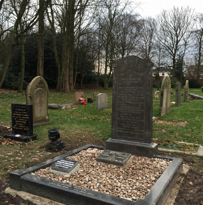 Headstone renovation