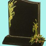 Black half ogee headstone