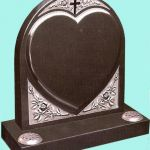 Carved heart detail headstone