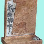 Elegant scroll detail headstone