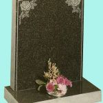 Polished Ogee memorial with roses design