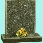 Ogee headstone in polished blue pearl granite
