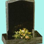 Ebony black granite with a hand pitched edge memorial
