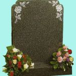 Elegant gravestone with rose detail
