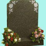 Elegant gravestone with rose detail