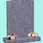 Simple traditional shape headstone