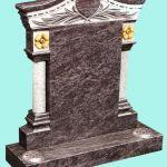 Heart Detail Column headstone