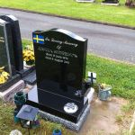 simple black polished headstone
