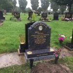 Grey granite memorial