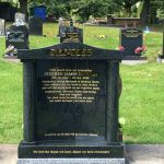 Cap and Column headstone